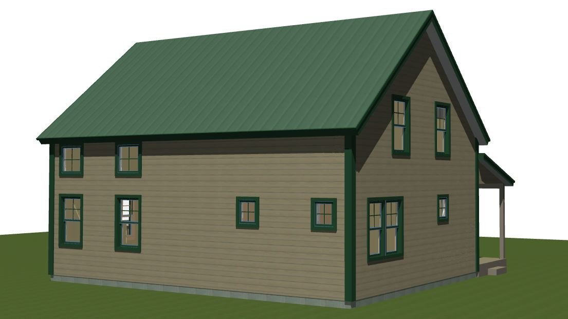 Panelized Small Barn Home