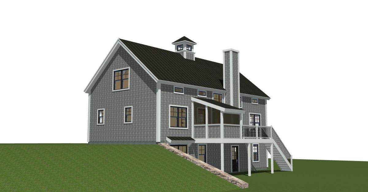Prefabricated Panelized Timber Frame Barn Home