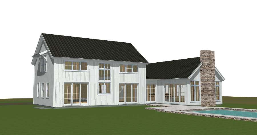 Tisbury yankee barn homes for Modern post and beam house plans
