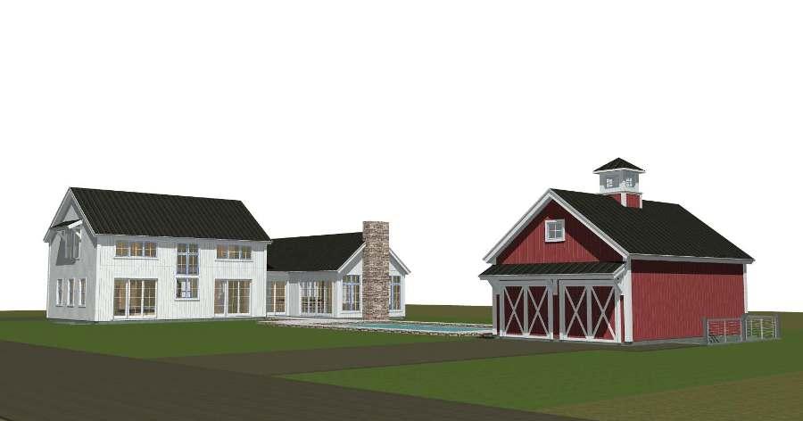 Panelized East Hampton Contemporary Barn Home