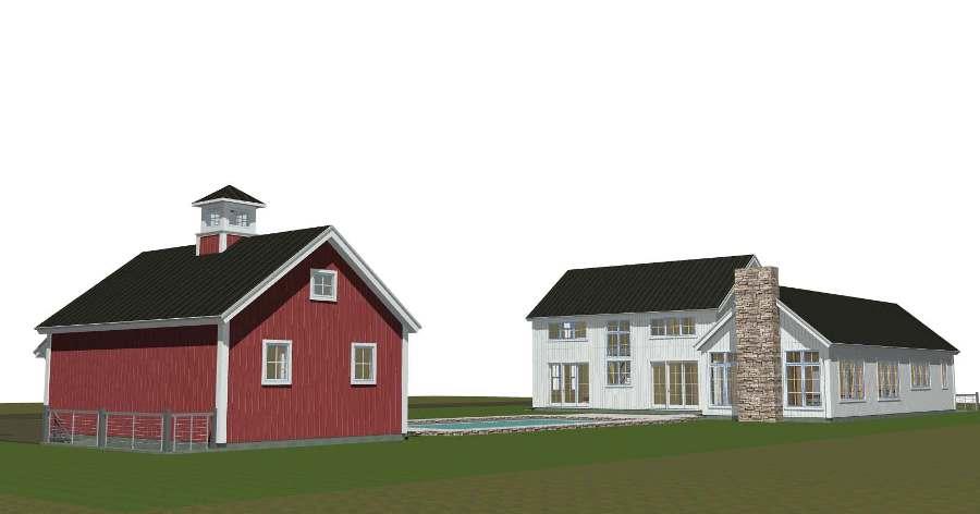 East Hampton Contemporary Barn Home