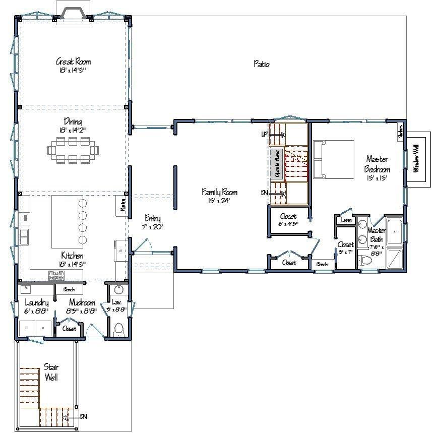 Tisbury yankee barn homes for Post and beam house plans floor plans