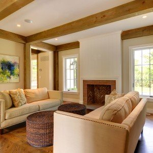 Timber frame homes 8 ways to keep costs down for Living room with 9 foot ceilings