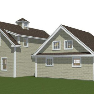 Small Barn Home Back Elevation