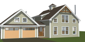 Walden Pond - Small Yankee Barn Home Rendering On The Boards