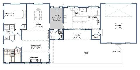 East Hampton Floor Plan