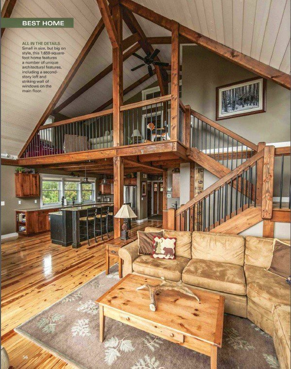 Small barn home wins big award for Rustic home plans with cost to build