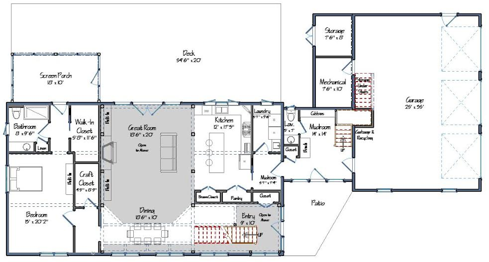 Bancroft Level One Floor Plan