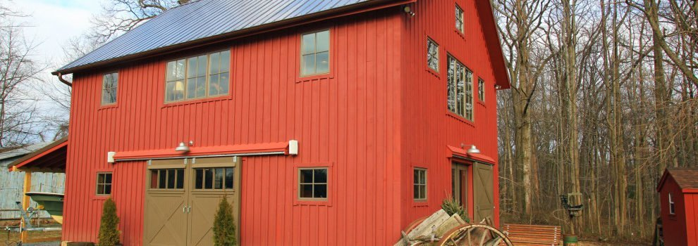 A Carriage House Goes Barn Board Chic