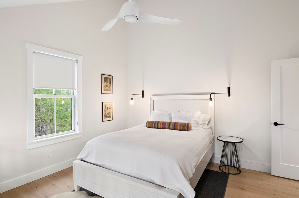 East Hampton Contemporary Home Bedroom
