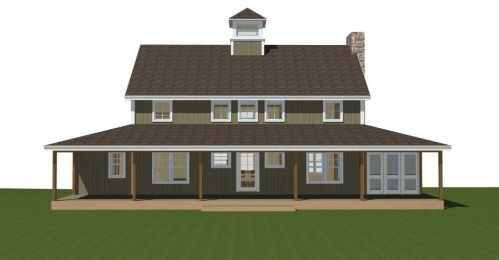 Small barn home plans under 2000 sq ft for Farmhouse plans under 2000 sq ft
