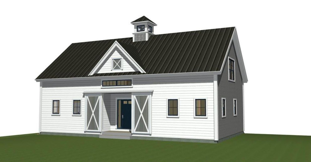 Small barn home plans under 2000 sq ft for Small barn house plans