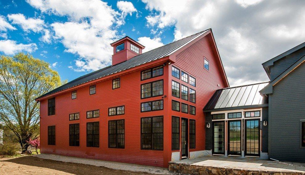 Barn homes contemporary the bancroft for Contemporary barn homes