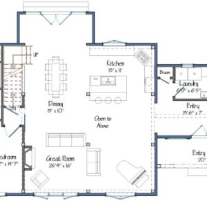 Downing Level One Floor Plan