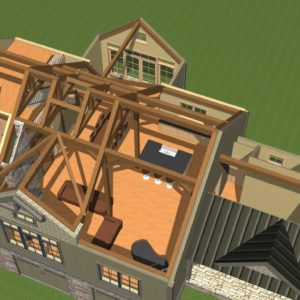 Overview with Post and Beam Frame
