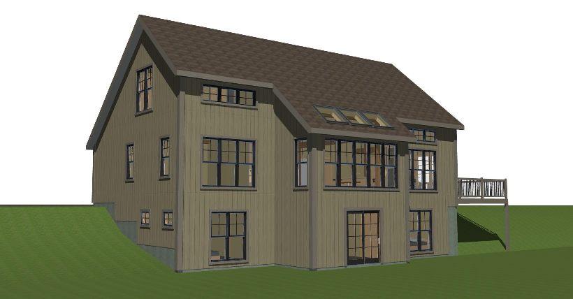 New England Small Barn Style House