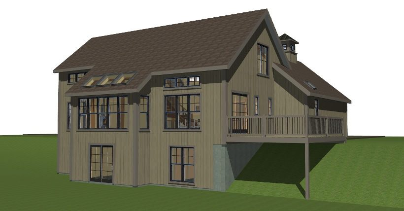 New England Small Cottage Barn Style House