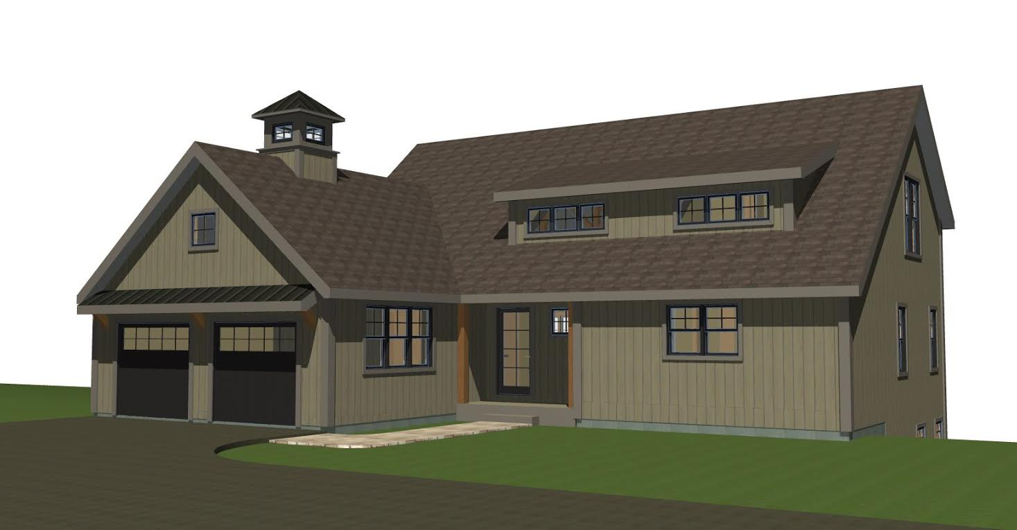 Small barn house new ybh home plans for Large barn plans