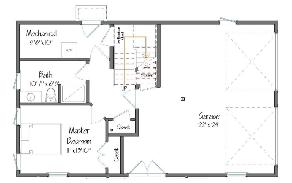 Spruceton Level One Plan