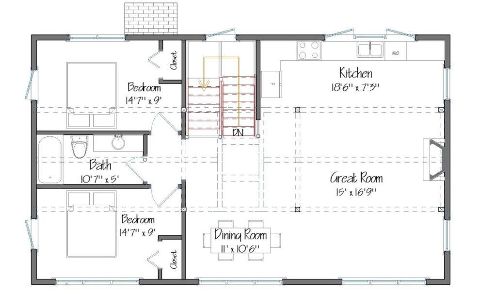 Spruceton Main Floor Plan