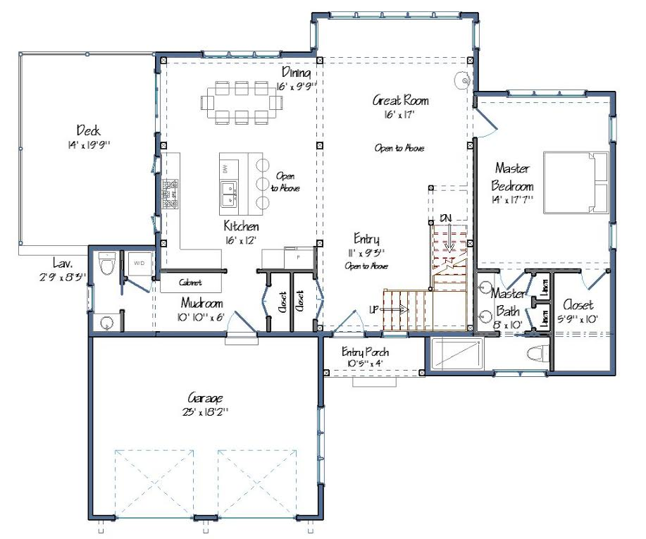 Small barn house new ybh home plans for Barn house floor plans