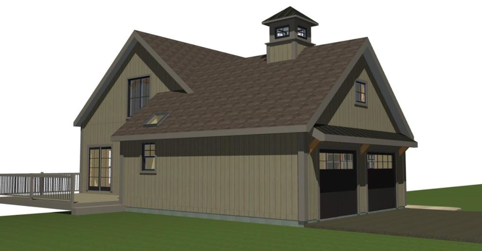 Small barn house new ybh home plans for House with attached barn plans