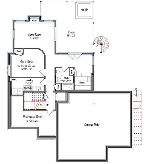 Mad River Lower Level Plan