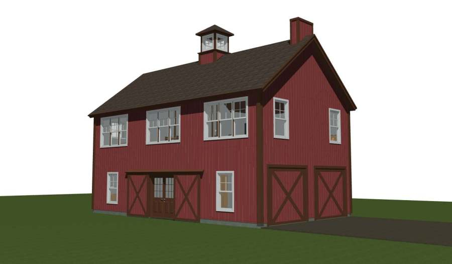 Spruceton yankee barn homes Carriage barn plans