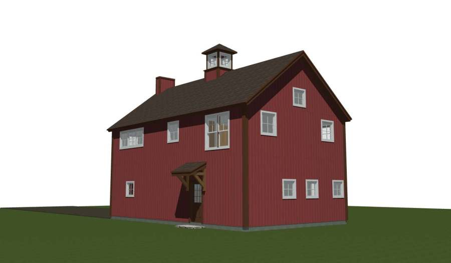 Yankee Barn Traditional Red Carriage House