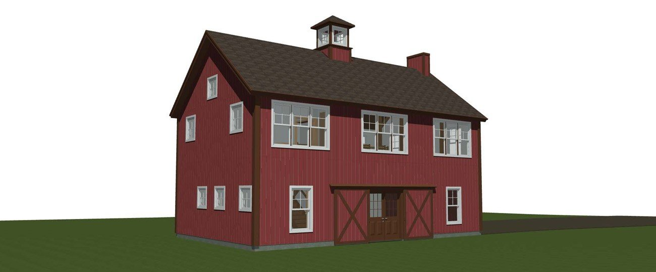 Spruceton yankee barn homes for Post and beam carriage house plans