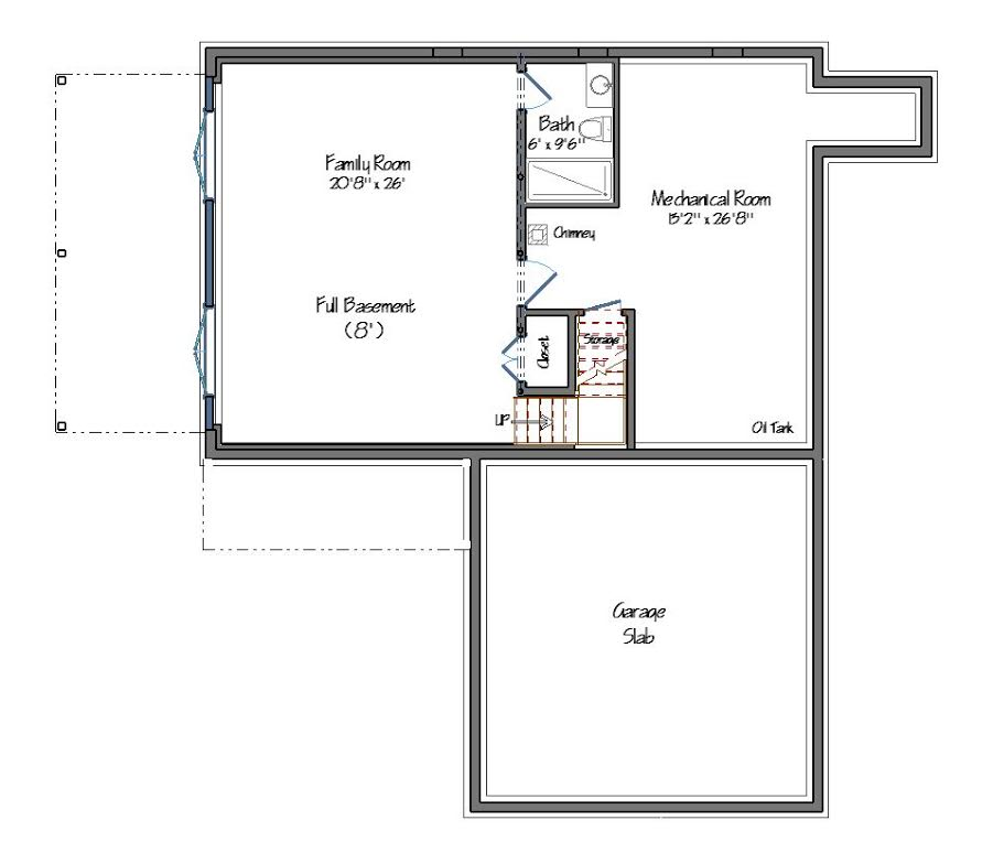 Dunbar Hill Cottage Lower Level Floor Plan