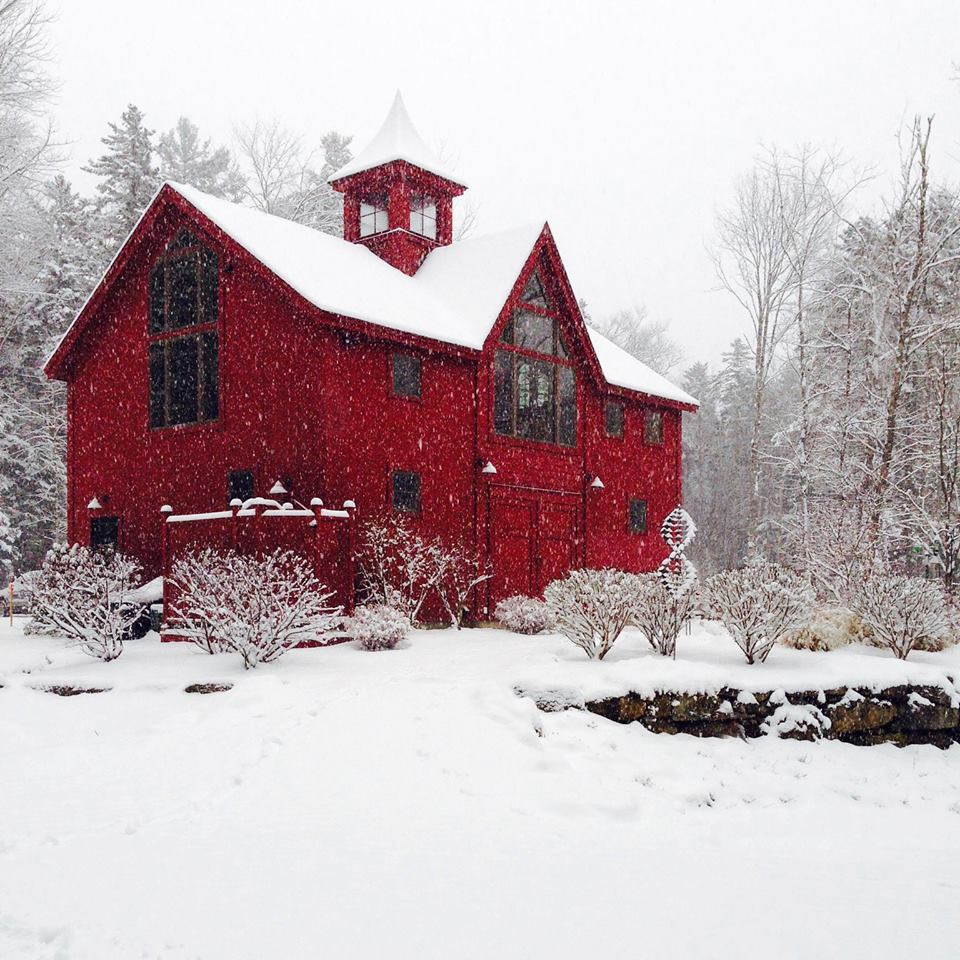 Barn home for the holidays for Carriage house barn