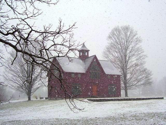 Barn House in Snow