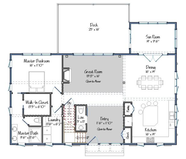 The cabot barn house one foot print three floor plan sizes for Small barn house plans