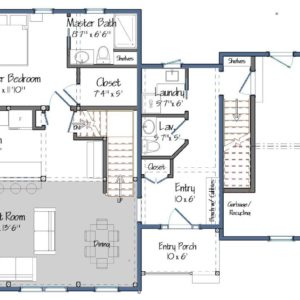Huntington Lodge Level One Floor Plan
