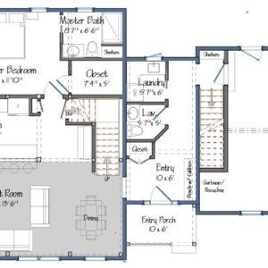 Huntington Lodge Level One Floor Plan