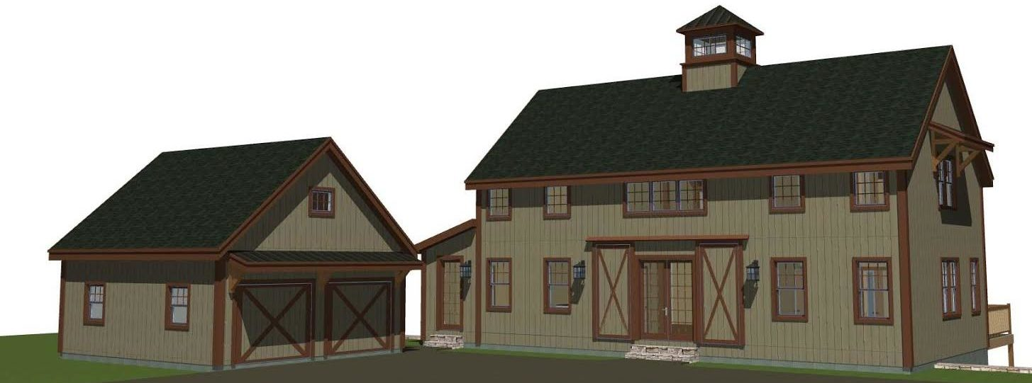 Barn house plans 2 0 the tullymore barn for Shed house layout