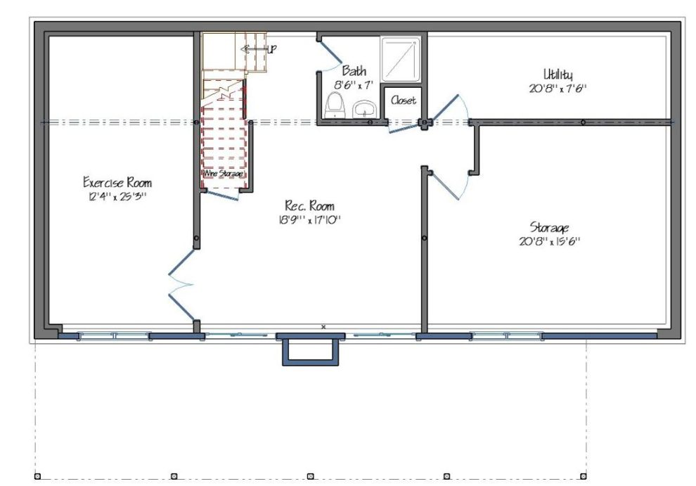 Tullymore Lower Level Floor Plan