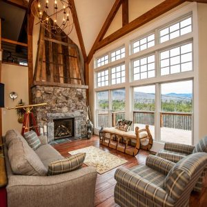 Cabot Barn Two Story Family Room