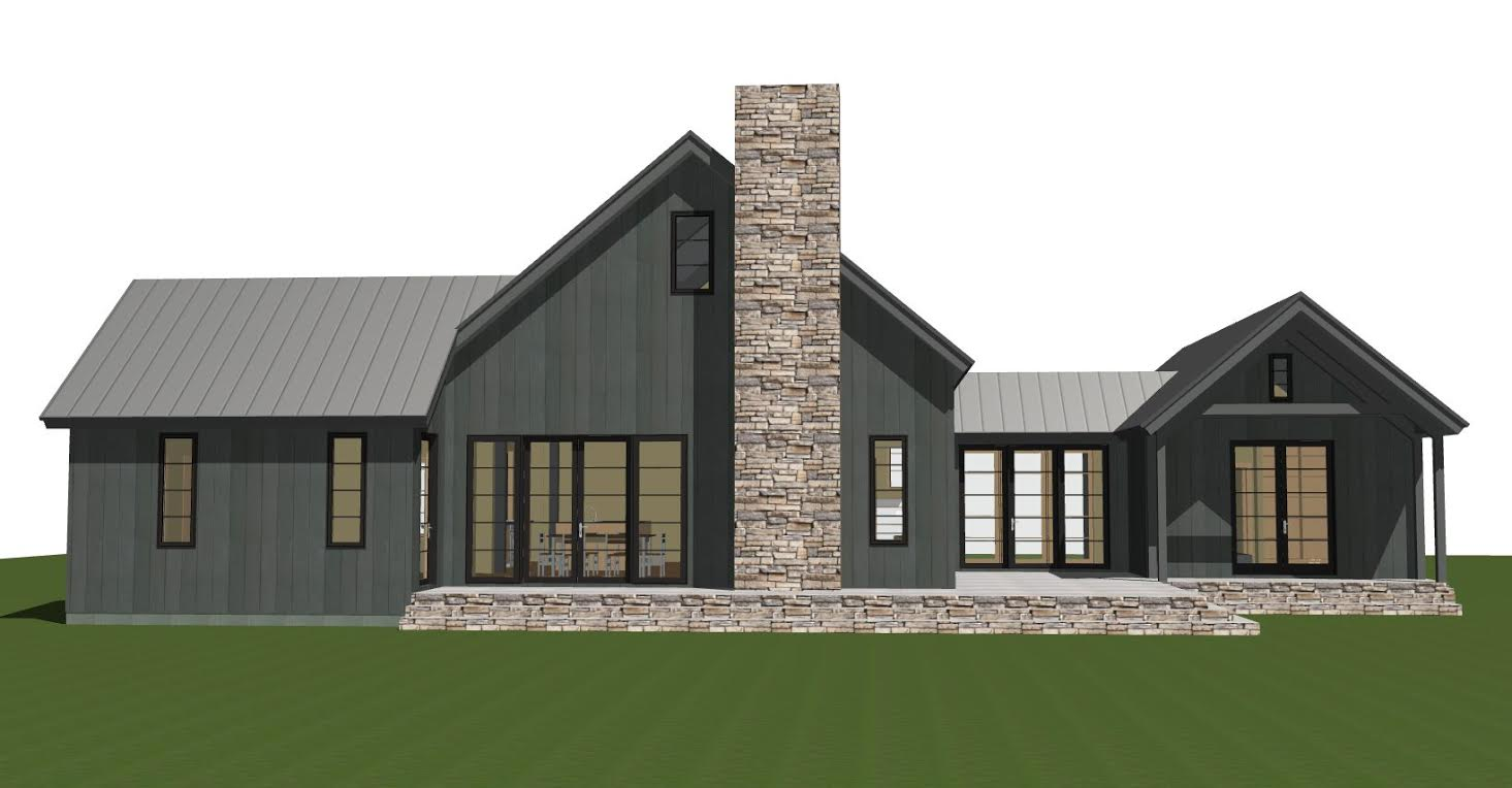 Contemporary Barn Home Plan The Lexington: barn homes plans