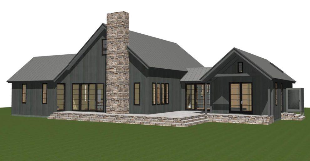 Contemporary Barn Home Plan The Lexington