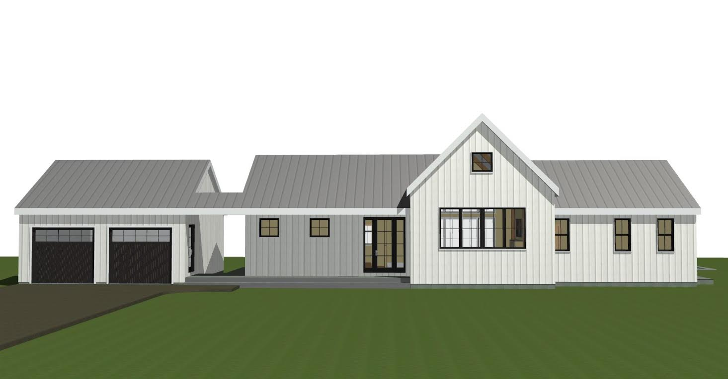 Post and beam single level plan the wildwood for Post and beam barn plans free