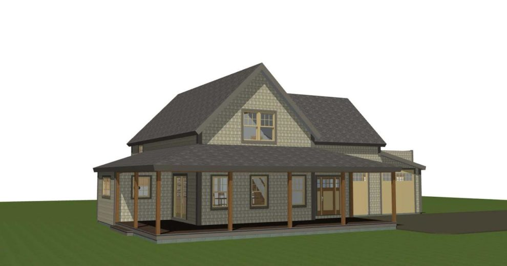 Main Street Farmhouse Rendering One