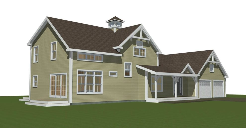 Eclectic Farmhouse Style House Plan The Ryegate