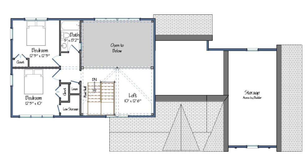 Farmhouse Floor Plan Level Two