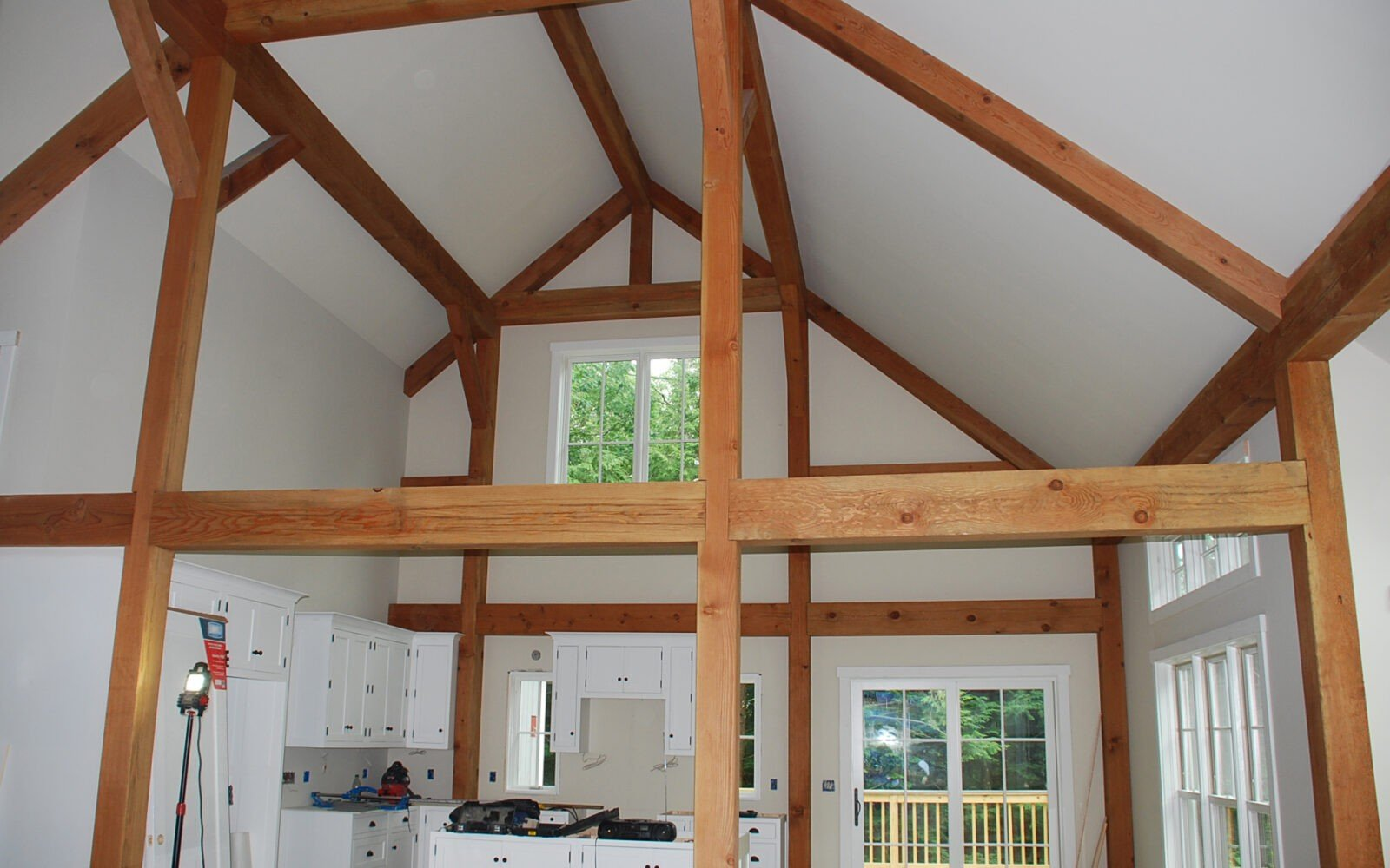 Small post and beam home plans yankee barn homes for Small post and beam cabin plans