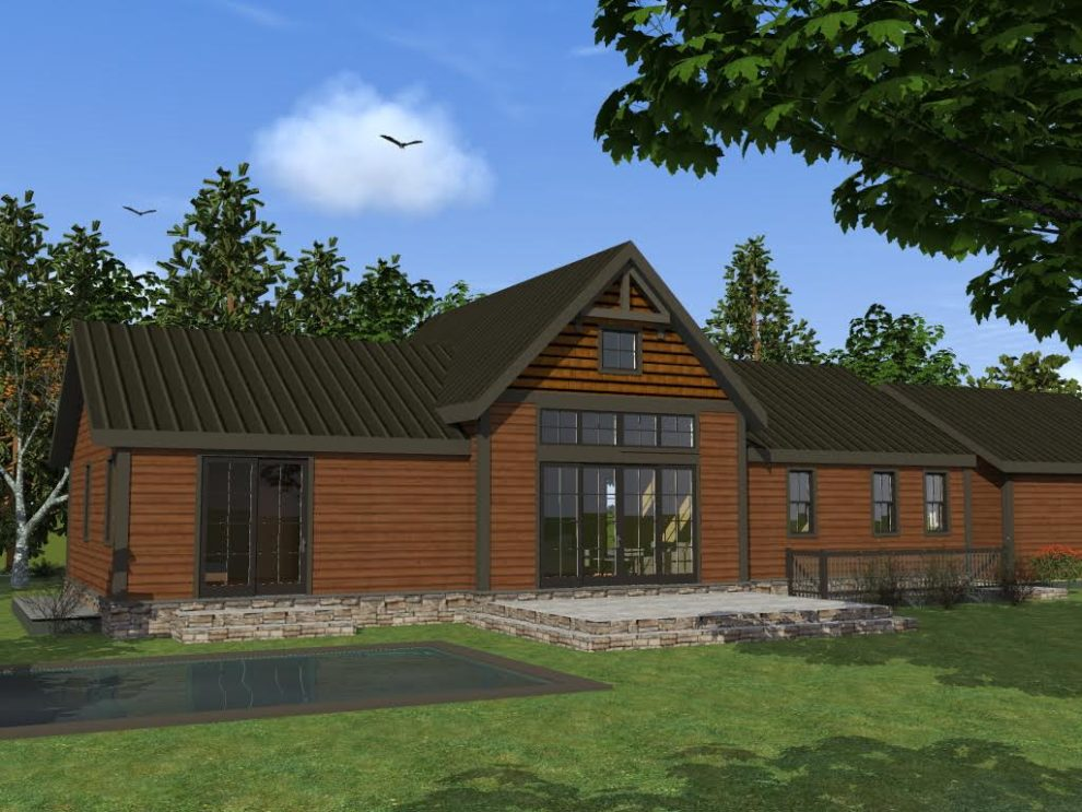 New age in place timberframe home plans for Aging in place house plans