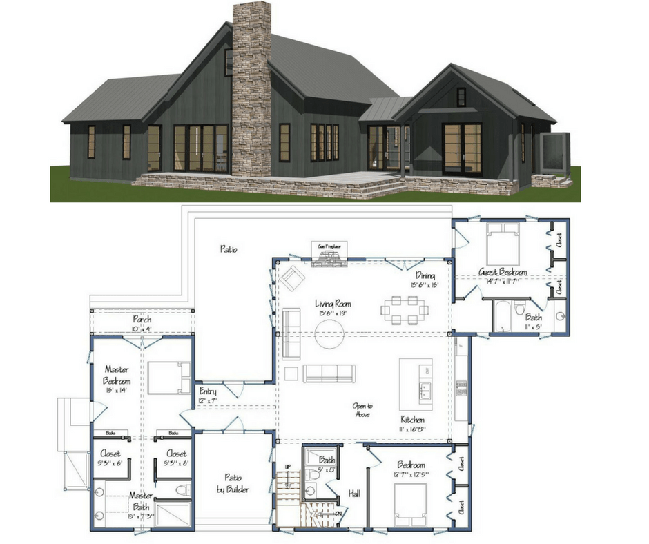 New yankee barn homes floor plans for Aging in place house plans