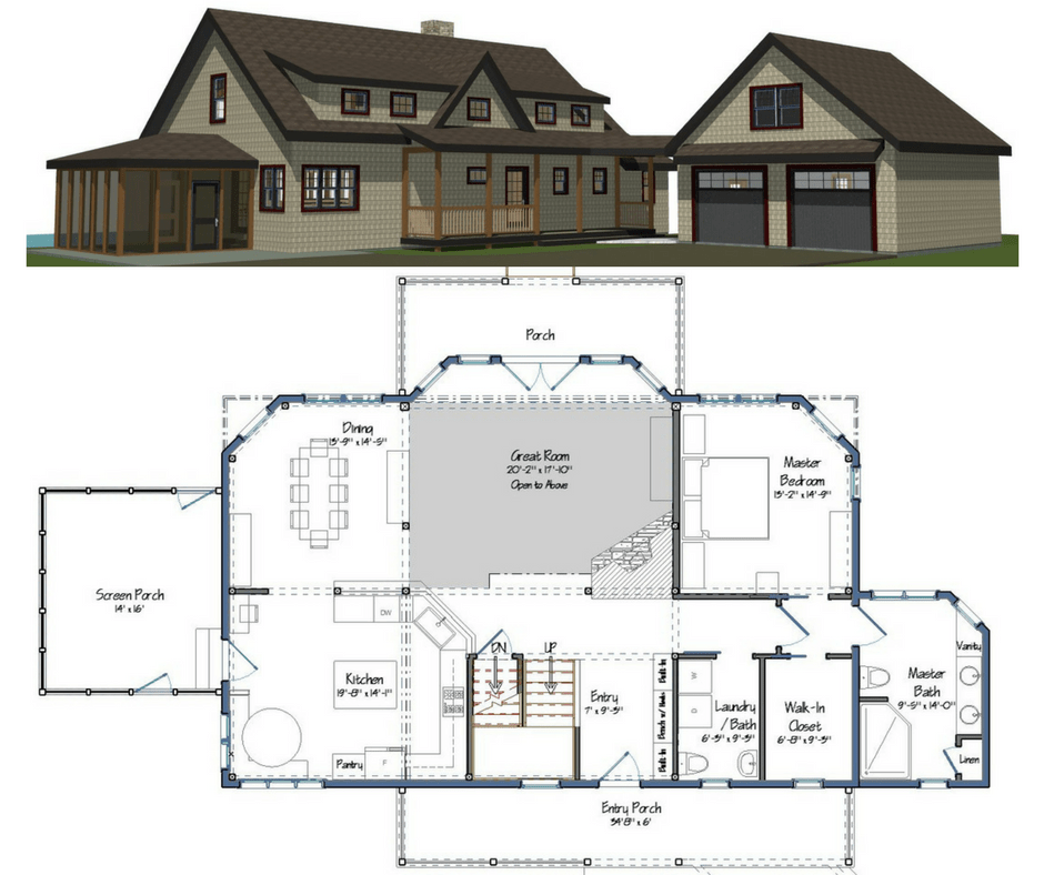 New yankee barn homes floor plans for Newest home plans