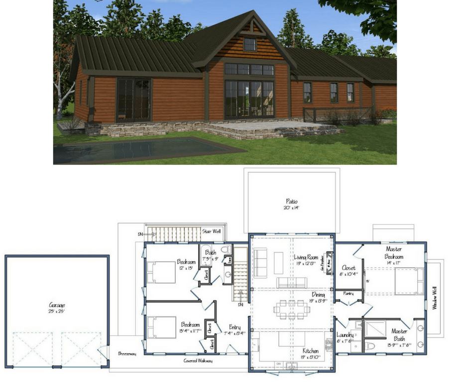 New yankee barn homes floor plans for Barn house building plans